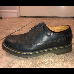 Dr. Martens Shoes - Dr. Martens Saxon 3989 Black Worn Out
